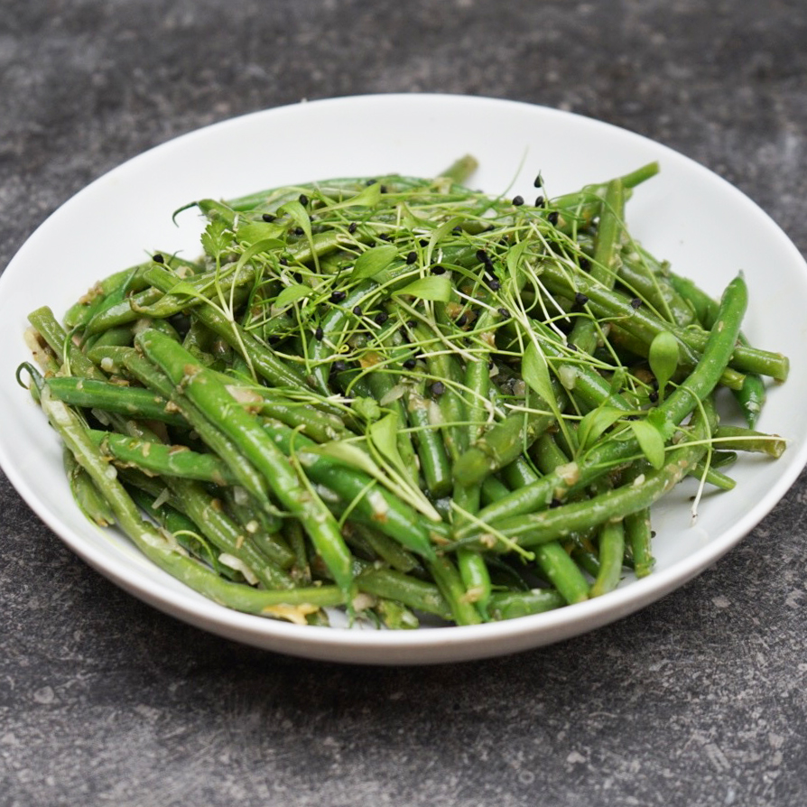 feast | French Dressed beans with shallots, capers and white wine ...