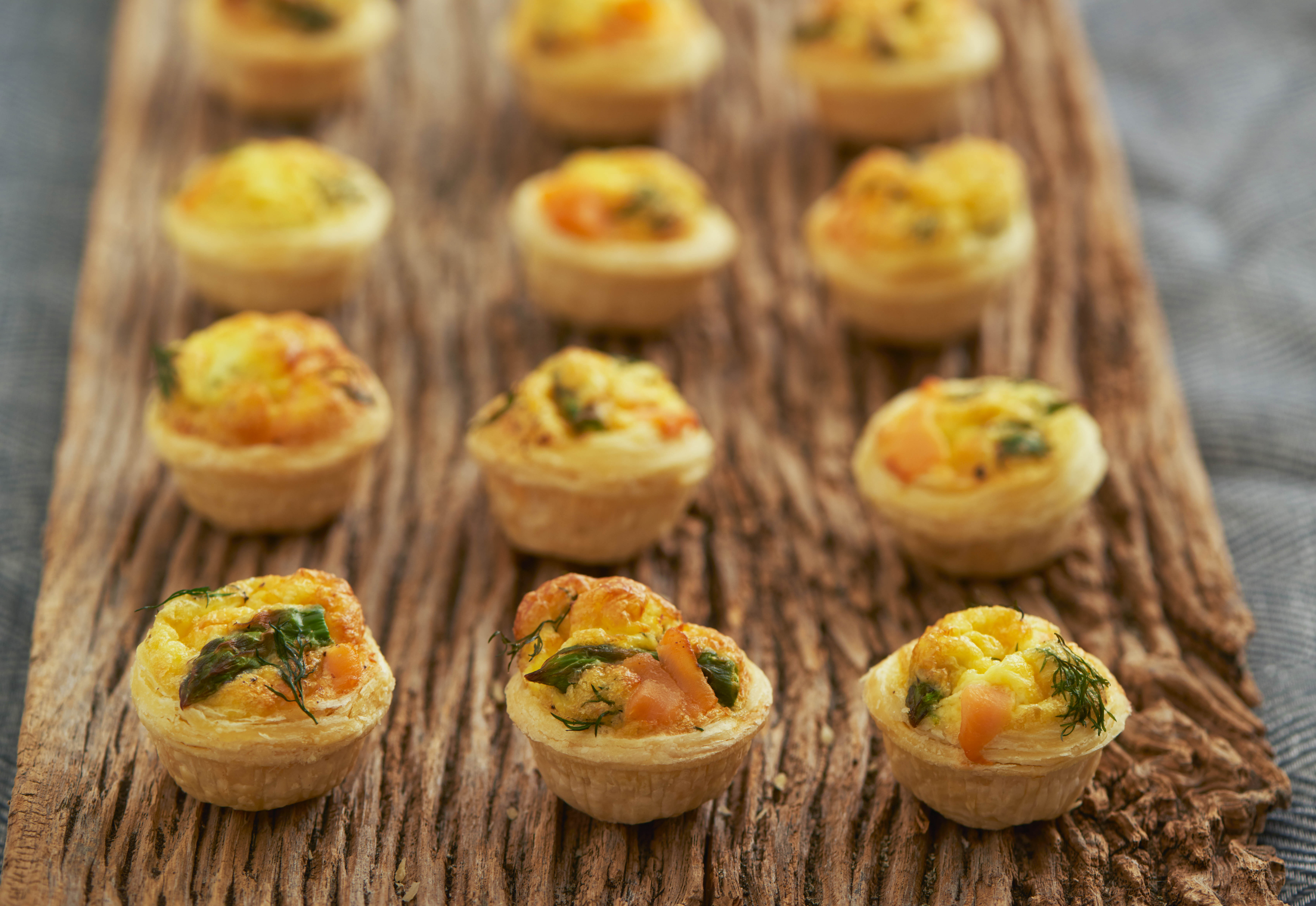 Salmon Tartlets Wood